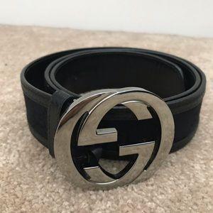 Gucci Guccissima GG Belt - black/silver